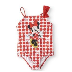 Toddler Girls' Minnie Mouse One Piece Swimsuit 2T
